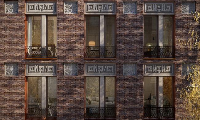 Фрагмент фасада © Проектное бюро АПЕКС