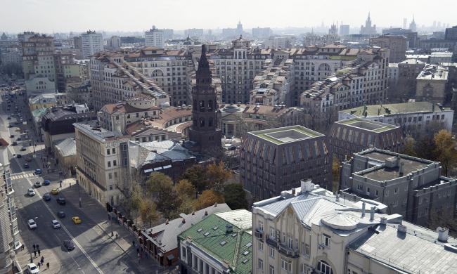 Вид на комплекс с высоты птичьего полета © Проектное бюро АПЕКС