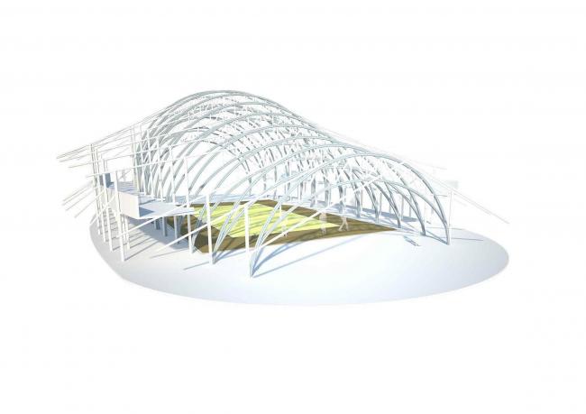 Бамбуковый спортзал Международной школы Паньяден © Chiangmai Life Architects