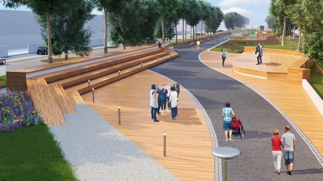 Реконструкция бульвара Цанова в город Тверь. Изображение предоставлено Никитой Маликовым