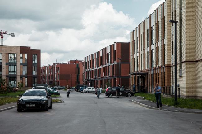 """Andersen"" residential complex. Construction, 2016. Photograph © Denis Esakov"