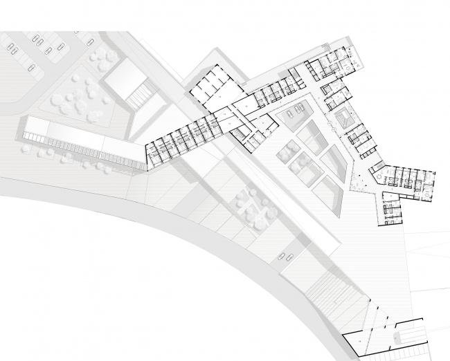 Диплом II степени. Алина Клитина. Дипломный проект «Горнолыжный рекреационно-спортивный комплекс в г. Южно-Сахалинск». План на отметке +7200.