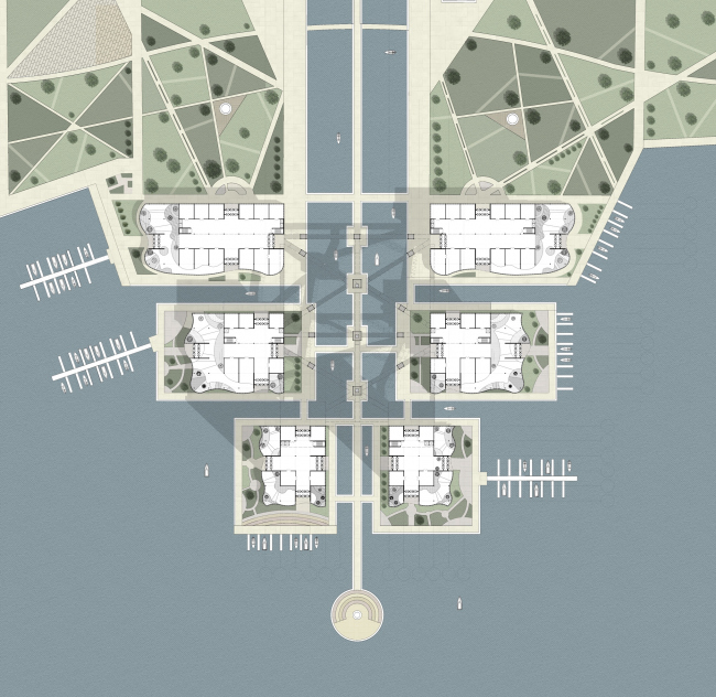 План 1 этажа яхтенного порта. Мария Кузнецова
