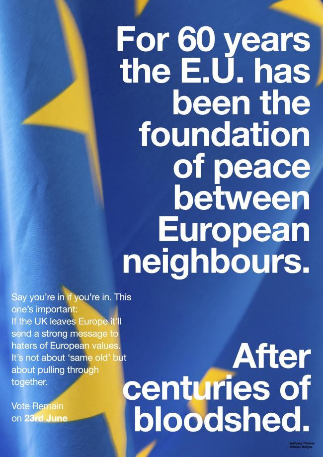 Плакат кампании против Брексита © Wolfgang Tillmans