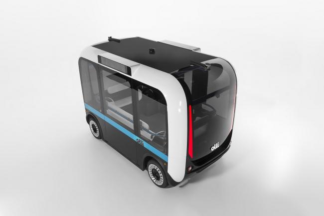 Напечатанный на 3D-принтере беспилотный электрический микроавтобус Olli © Local Motors