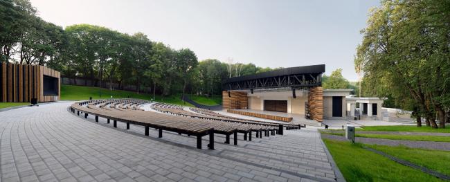 Зеленый театр в центральном парке «Динамо» © Проектный институт ООО «Экопроект ЦЧР»