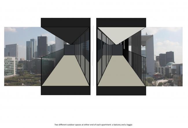 Жилой комплекс в районе Дефанс © Farshid Moussavi Architecture