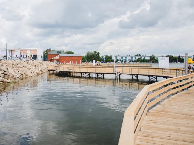 Пляж на городском озере в Альметьевске © Креативное агентство Evolution