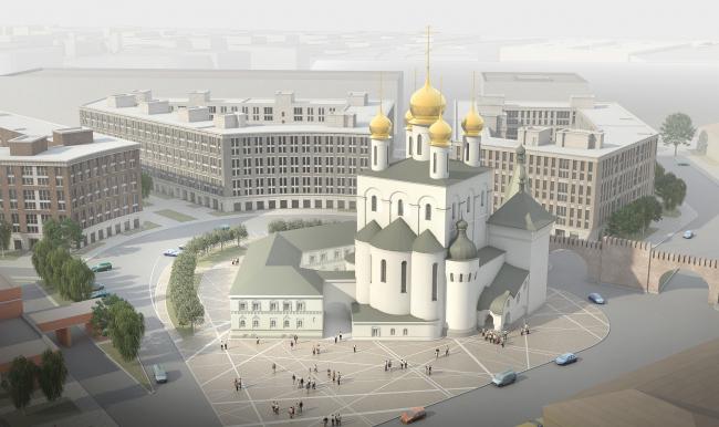ЖК «Царская столица». Очередь 1. Перспективный вид 2 © Евгений Герасимов и партнеры