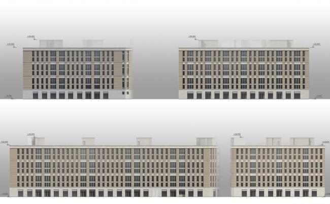 ЖК «Царская столица». 1 очередь. Фасады корпуса 1А © Евгений Герасимов и партнеры