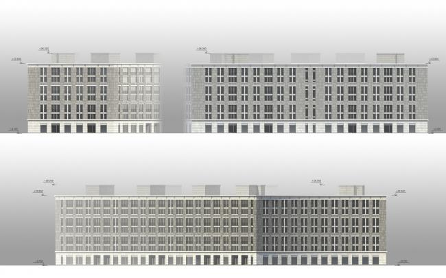 ЖК «Царская столица». 1 очередь. Фасады корпуса 1Б © Евгений Герасимов и партнеры
