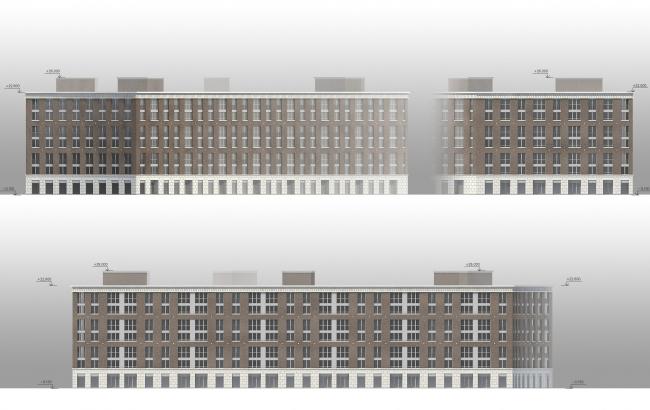 ЖК «Царская столица». 1 Очередь. Фасады 1В © Евгений Герасимов и партнеры