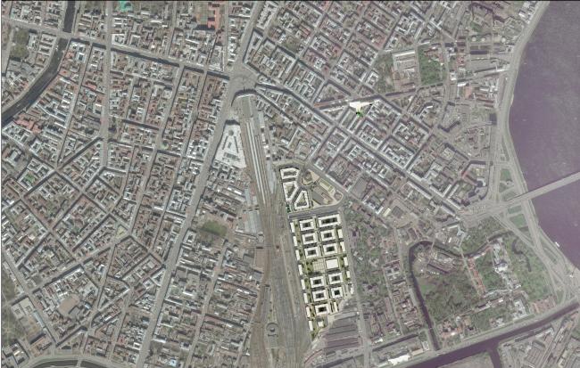 """""""Tsarskaya Stolitsa"""" housing complex.Location plan © Evgeny Gerasimov and Partners"""
