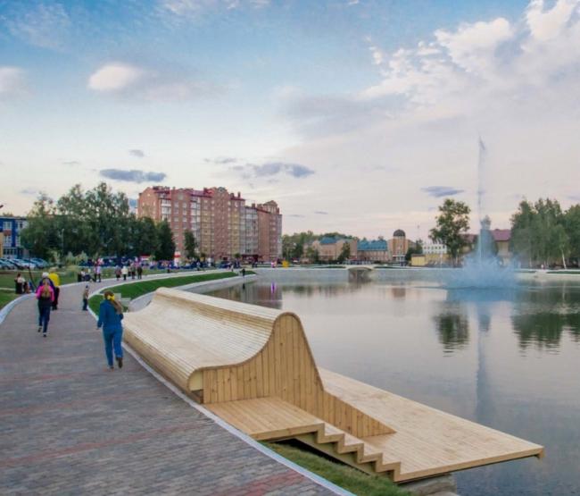 Набережная и парк «Авангард» © Архитекторы: Артем Малыхин, Константин Самарцев, Дарья Толовенкова