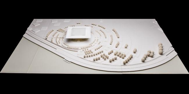 Макет музейного комплекса «Оборона и блокада Ленинграда» © Thomas Herzog Architekten. Изображение предоставлено Комитетом по градостроительству и архитектуре Санкт-Петербурга.