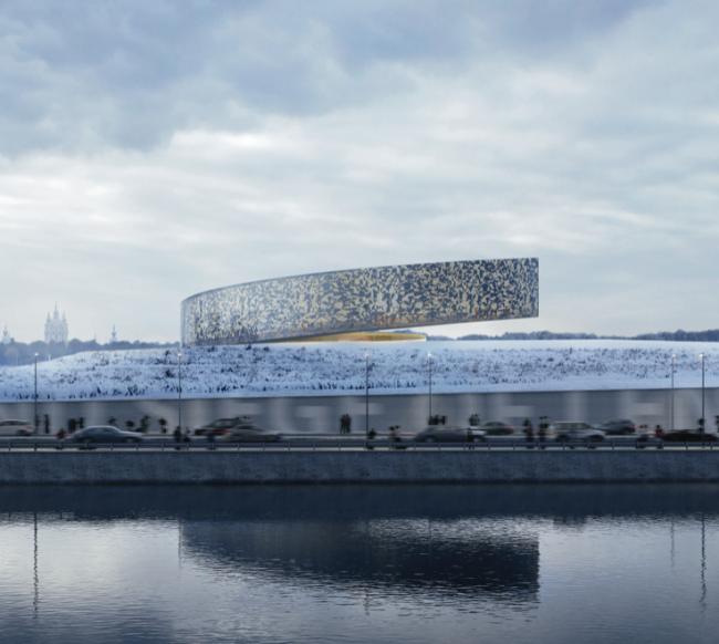 Проект музейного комплекса «Оборона и блокада Ленинграда» © Lahdelma & Mahlamäki. Изображение предоставлено Комитетом по градостроительству и архитектуре Санкт-Петербурга.
