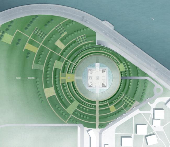 Проект музейного комплекса «Оборона и блокада Ленинграда» © Thomas Herzog Architekten. Изображение предоставлено Комитетом по градостроительству и архитектуре Санкт-Петербурга.