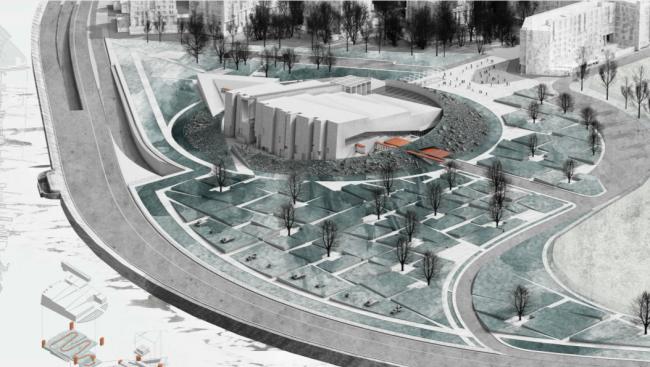 Проект музейного комплекса «Оборона и блокада Ленинграда» © Архитектурное бюро «Земцов, Кондиайн и партнеры». Изображение предоставлено Комитетом по градостроительству и архитектуре Санкт-Петербурга.