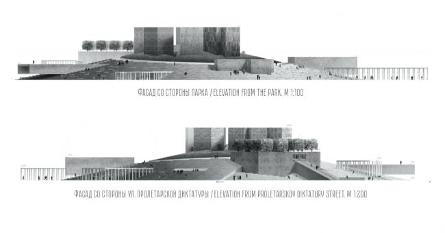 Проект музейного комплекса «Оборона и блокада Ленинграда» © Архитектурная мастерская «Студия 44». Изображение предоставлено Комитетом по градостроительству и архитектуре Санкт-Петербурга.