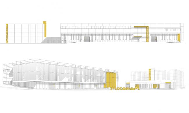 Фасады 3-D © Проектное бюро АПЕКС
