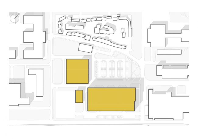 Mosfilm production studio. Master plan © Project bureau APEX