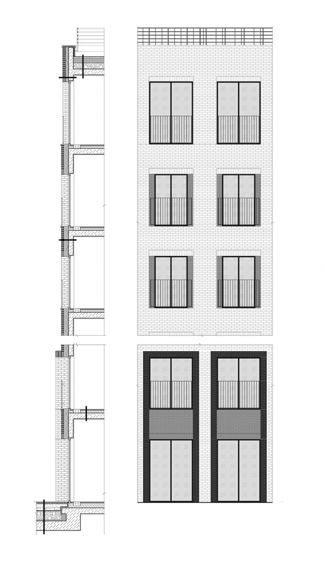 ЖК «I'M». Фрагмент фасада © Проектное бюро АПЕКС