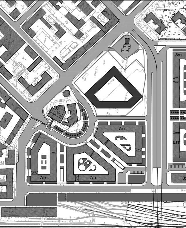Предложение по формированию площади вокруг храма © Евгений Герасимов и партнеры