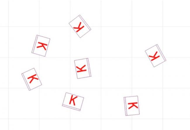 Рис. 19. Новые объекты на плане под разными углами без строк поворота и масштабирования