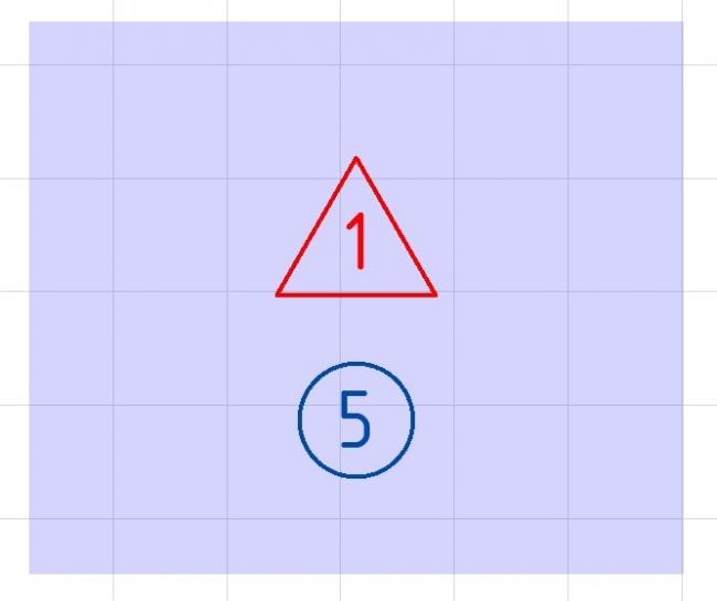 Рис. 27. Зона со специальным маркером в окне плана