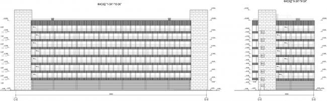 ЖК «Царская столица». 2 очередь. Фасад 3А © Евгений Герасимов и партнеры