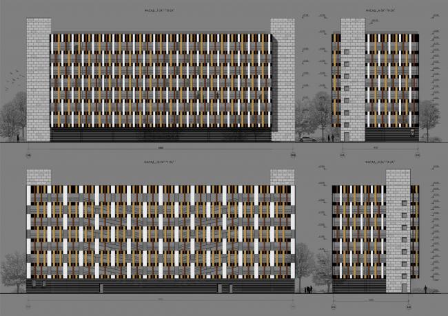 ЖК «Царская столица». 2 очередь. Фасад, корпус 2А © Евгений Герасимов и партнеры
