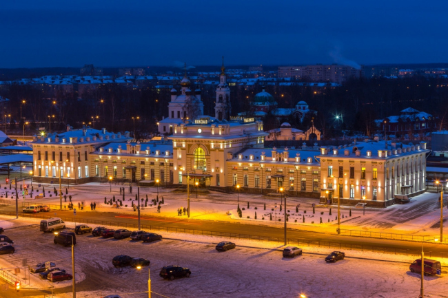 Реставрация железнодорожного вокзала в Рыбинске © «Костромапроект»