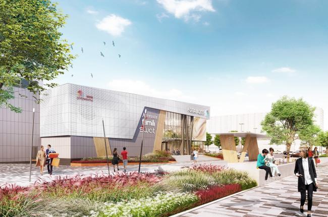 """""""Golden Babylon Otradnoe"""" shopping mall © Blank Architects. Image courtesy by the press service of """"Moskomarkhitektura"""""""