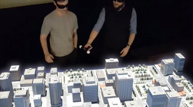 Скриншот из ролика World′s First Hologram Table, автор: Euclideon Holographics