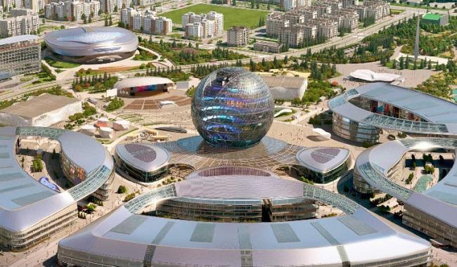 Cамое большое сферическое здание в мире  –  «Нур-Алем». Изображение предоставлено ROCKWOOL