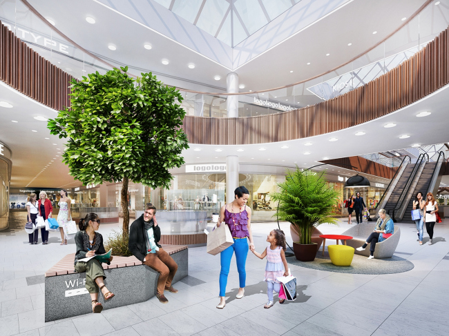 """Golden Babylon Otradnoe"" shopping mall. Interior design © Blank Architects"