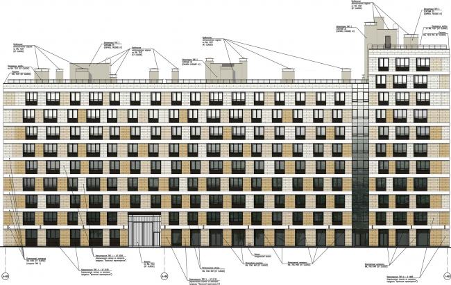 ЖК «Царская столица». 4 очередь. Фрагмент фасада 8Б © Евгений Герасимов и партнеры
