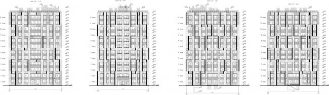 ЖК «Царская столица». 4 очередь. Фасады 9Б © Евгений Герасимов и партнеры