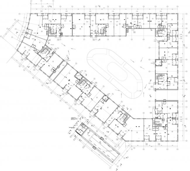 ЖК «Царская столица». 1 очередь, 1В, 1 этаж © Евгений Герасимов и партнеры