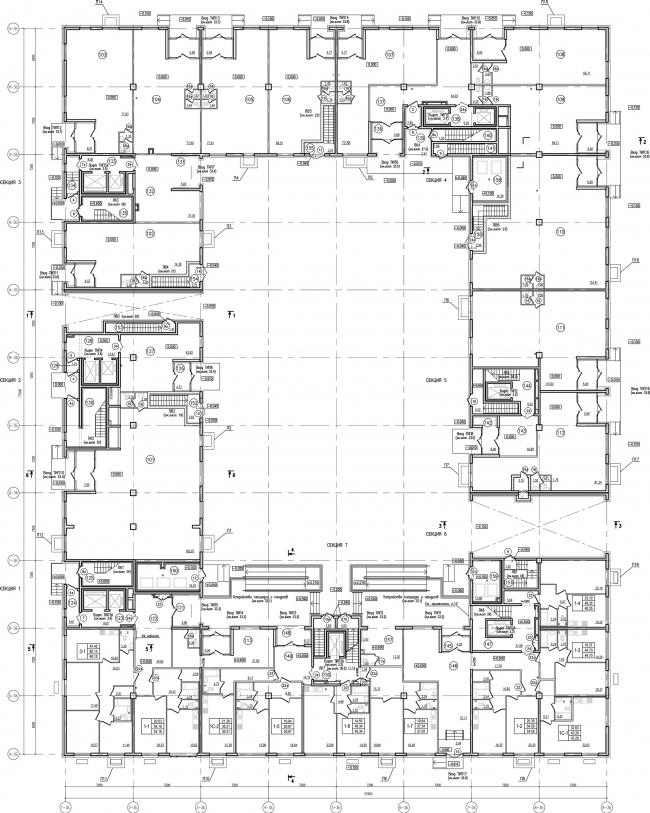 ЖК «Царская столица». 2 очередь. 3Б, 1 этаж © Евгений Герасимов и партнеры
