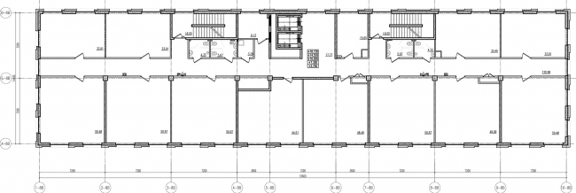 ЖК «Царская столица». 4 очередь. 8В, типовой этаж © Евгений Герасимов и партнеры