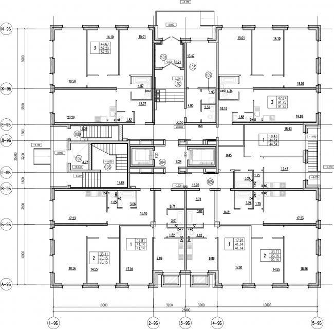 ЖК «Царская столица». 4 очередь. 9Б, 1 этаж © Евгений Герасимов и партнеры