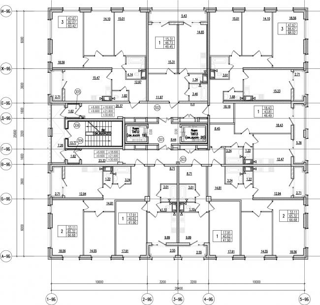 ЖК «Царская столица». 4 очередь. 9Б, типовой этаж © Евгений Герасимов и партнеры