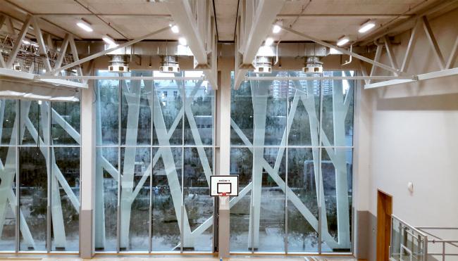 Спортзал. Хорошевская гимназия, А-Проект. Фотография © Мария Трошина