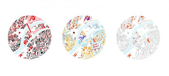 Архитектурные и исторические памятники. Объекты культуры. Функциональная схема © Renzo Piano Building Workshop