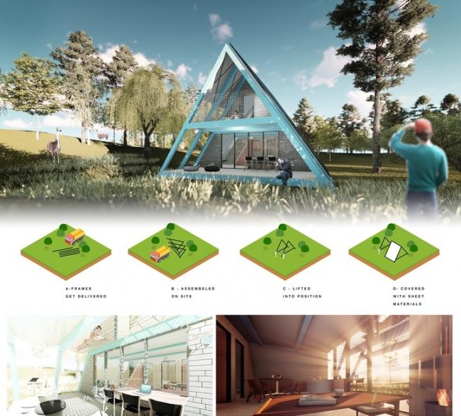 Проект «ТриДом». 2 место в номинации «Модульный Дом». Руководитель проекта: Daniel Dendra. AnotherArchitect