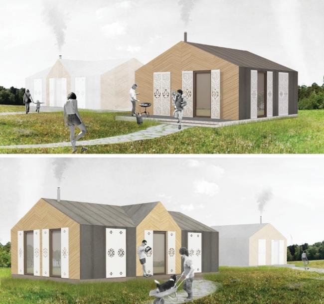 Проект модульных домов. 3 место в номинации «Модульный Дом». ИСК «НКС»