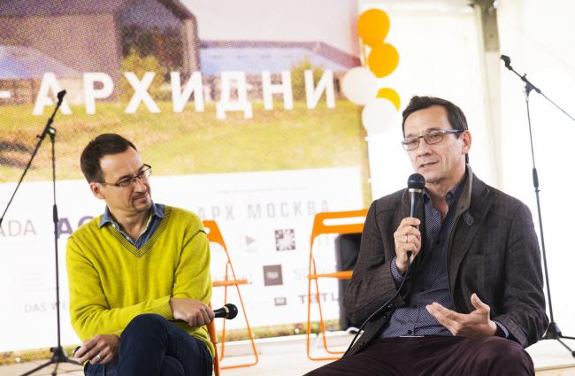 Николай Малинин и Тимур Башкаев. Архи-дни в Ясно Поле. Фотография © Евгения Яровая