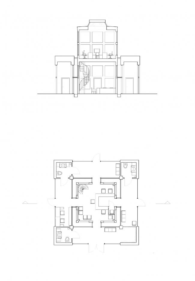 Работа Юлии Осиной, студентки 1 курса бакалавриата Interior Architecture and Design БВШД. Изображение предоставлено БВШД