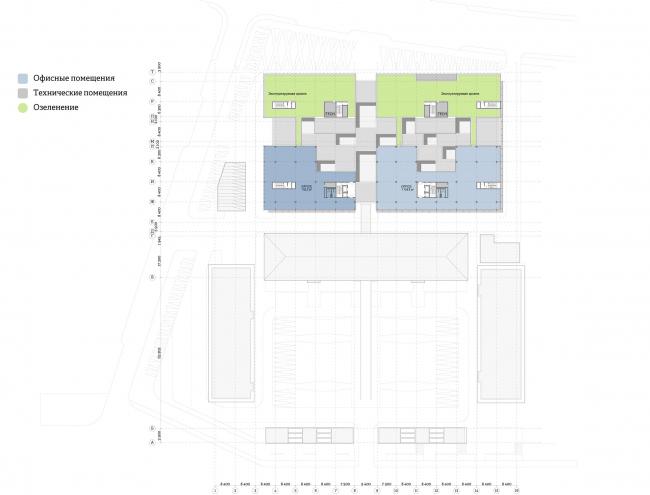 Многофункциональный комплекс «Ёлки-парк». План 7 этажа © Четвертое измерение